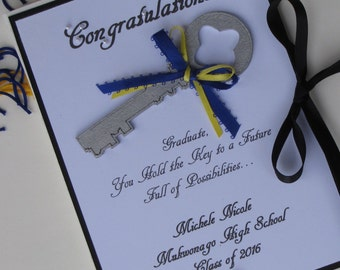 Graduation Gift, Personalized Photo Album, Graduation Album, Graduation Photos, School Colors, High School Graduate,  College Graduate
