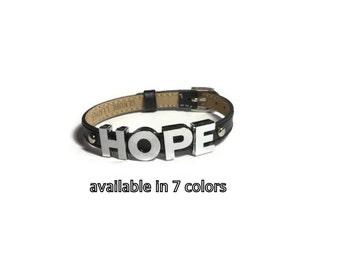 HOPE Bracelet, Word Bracelet, Encouragement Bracelet, Motivational Bracelet, Inspirational Bracelet