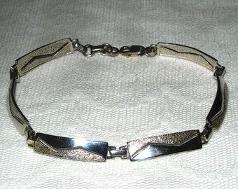 Sterling silver bracelet, 925, modern style, vintage, link bracelet
