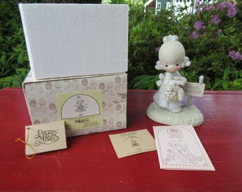 "Vintage Enesco Precious Moments ""July"" Figurine #110051 in the Box 1988"