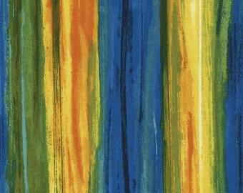 Painterly Stripe Blue Chong-a Hwang Timeless Treasures Fabric 1 yard