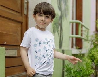 Organic cotton T-shirt narwhal child