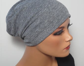 Cool BEANIE/Hat light and airy light grey mottled fashionable practically easy turban