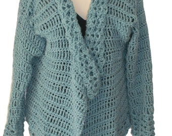 Blue Sweater, Womens Cardigan, Womens Plus Size, Plus Size Sweater, XL Sweater, Oversize Sweater, Oversize Cardigan, Sweater Jacket, Sweater