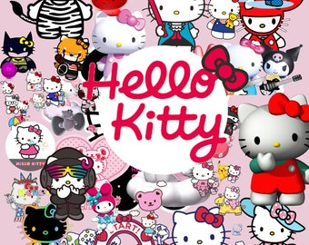 Hello Kitty 60 Clipart  -Digital-ClipArt-PNG-image- PNG Images-Digital Clip Art background-Hello Kitty Scrapbooking-Instant Digital