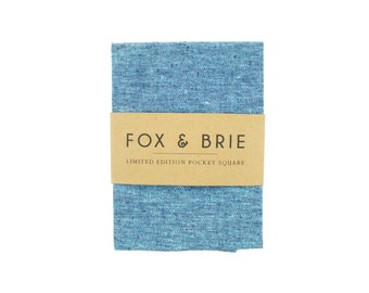 Ocean Blue Chambray Pocket Square