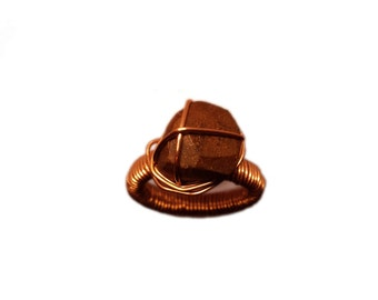 COPPER WALNUT RING - Wire Ring - Coopper ring - Women's Wood Ring - Beautiful wood and metal jewelry