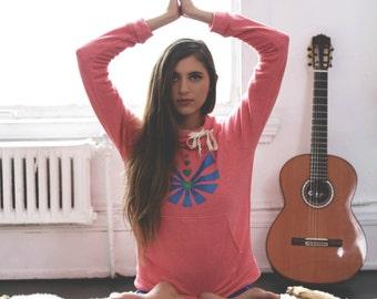 yoga hoodie // yoga sweatshirt // screen print hoodie