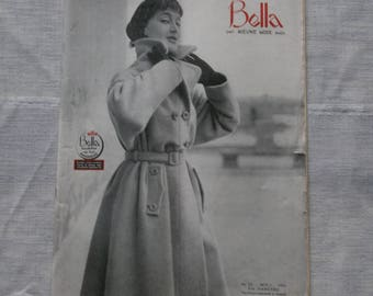 1953 original Dutch sewing pattern magazine Bella het nieuwe mode blad fifties fashion 50's dress
