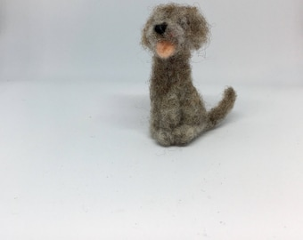 Tiny deerhound, needle felted dog Scottish Deerhound miniature soft sculpture, by Little Bea Studio