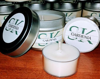 Scented Soy Votive Candle - Gardenia | Scented Candles | Handmade | Hand Poured | Cruelty Free | Gift Ideas | White Candles | Floral