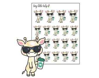 Planner Stickers Giraffe Coffee