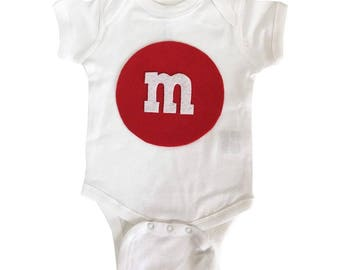 Merry Christmas - M and M's Baby Bodysuit - Red