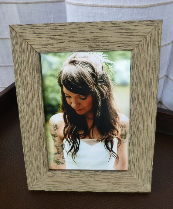 Wood Picture Frame Distressed Rough Textured Rustic Barnwood Style ...