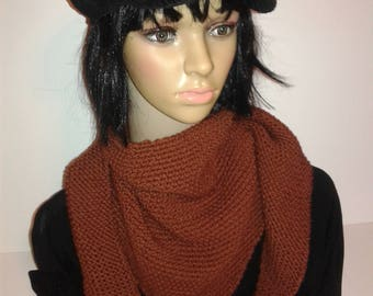 Rust brown scarf