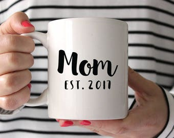Personalized Mothers Day Gift from Husband Baby Shower Gift for Mom New Mom Gift Birthday Gift Mom Mug New Mother Gift Custom Cute Mug Year