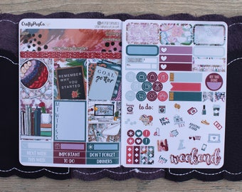 Goal Digger // B6 Weekly Kit for the #5 Foxy Fix or B6 Planner - Folds to fit in your TN! EC sized boxes!