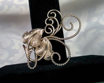 Bond Boyd Sterling Brooch, Bond Boyd Flower Brooch, Sterling Silver Brooch
