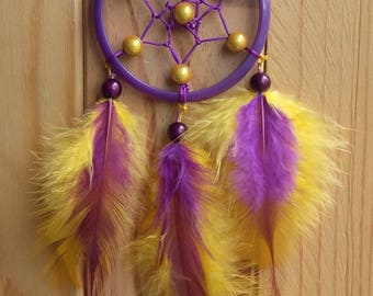 Yellow purple DREAMCATCHER dream catcher