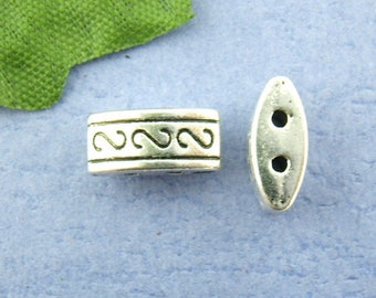 set of 10 metal beads spacer around 10 X 5 mm (1.1 mm hole)