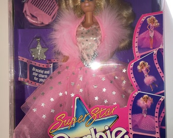 Vintage Barbie Super Star Doll from 1988 New in Box!