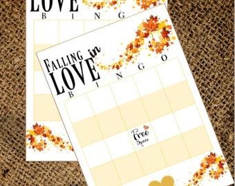 Falling in LOVE Bridal Bingo Game - Printable