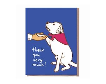 Good Dog Thank You Card