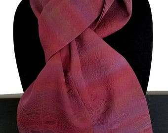 Kimono Scarf S8594 - rose and purple shaded