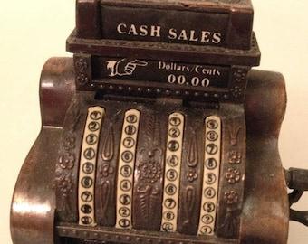 ON SALE Vintage Hong Kong Die-Cast Metal Pencil Sharpener -- Cash Register