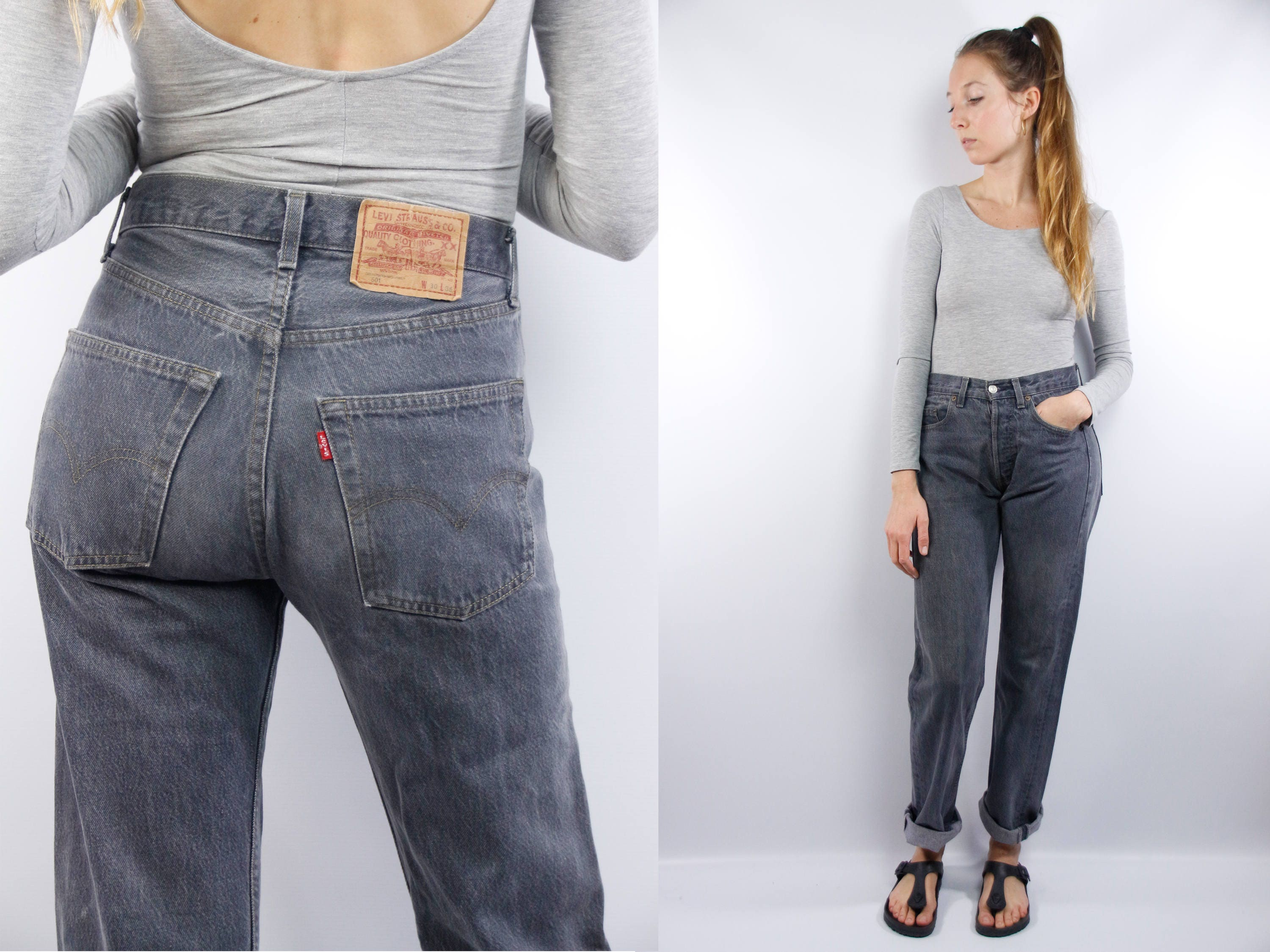 vintage levis 501 levis 501 grey levis mom jeans high waist jeans high waisted jeans. Black Bedroom Furniture Sets. Home Design Ideas