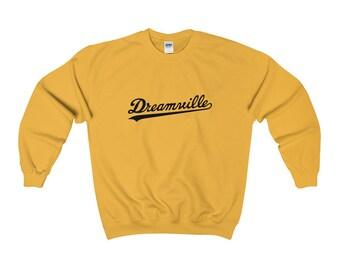 Dreamville Black Logo Crewneck Sweatshirt J Cole Born Sinner Tde Edm Dj Sinner Sweatshirt Vintage Black Kendrick Lamar Rap Hip Hop
