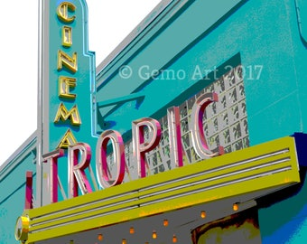 Poster Print - Cinema, Key West, Florida