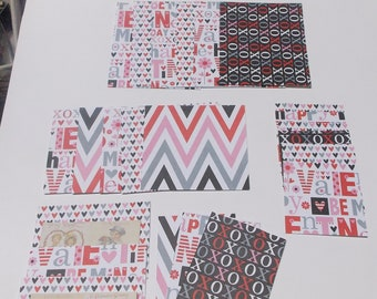 scrapbook holiday paper scrap packs assorted sizes