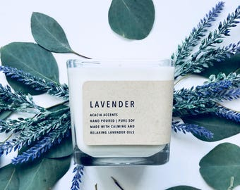 Lavender | Classic Collection | Pure Soy Candle | 12oz Candle | Essential Oil Candle