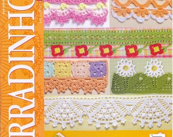 PDF crochet pattern, Portuguese eBook, Crochet Edging & Braid