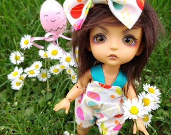 Pukifee Lati Yellow Overalls with hairclip
