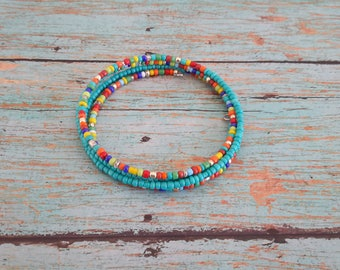 colorful bracelet, seedbead bracelet, memory bracelet, teen bracelet, hippie bracelet, dainty bracelet, boho bracelet, womens bracelet
