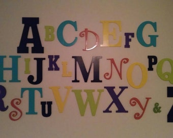 Alphabet Wall Decor letter wall childrens room decor. Learning wall painted letters alphabet soup bedroom wall learning wall alphabet