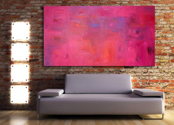 Sapphire Ruby Original Modern Abstract Contemporary Art