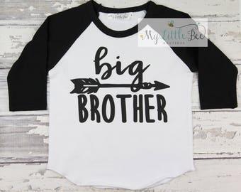 Big Brother Shirt - Sibling Shirt - Big Brother Announcement Shirt - New Baby Announcement Shirt - Family Photo Shirt