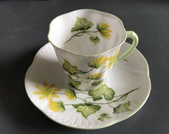Antique Tea Cup / Shelley England Demitasse Cup and Saucer / Vintage Tea Party