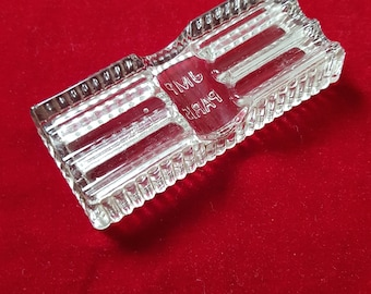 Nib molded glass pencil holder