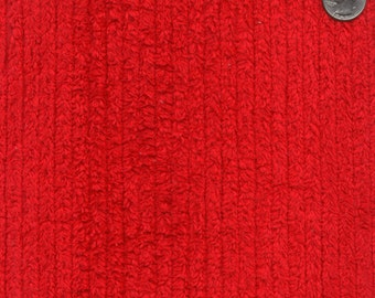 """56"""" Wide Red Cotton Chenille By the Yard (TC0504)"""