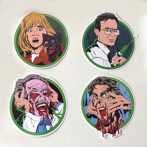 Re Animator Horror Sticker Pack by Etsy