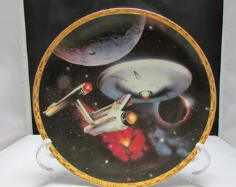 Star Trek: The voyagers USS Enterprise Plate presented by Amazing treasures Shop