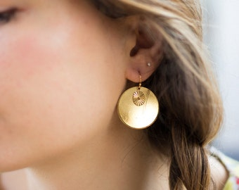 Earrings gilded with fine gold