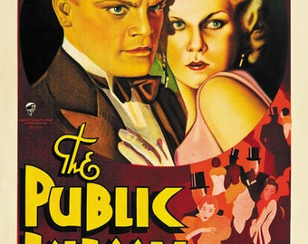 The Public Enemy (1931) Jean Harlow James Cagney movie poster reprint 19x12.5 inches