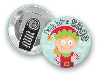 Macaroon motivational little IMP wise - badge clip - Pixie - girl - motivational - children - kids
