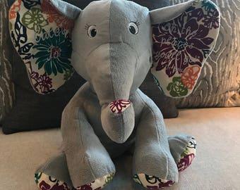 Custom Stuffed Elephant