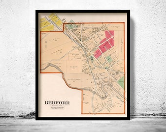 Old map of Bedford Ohio 1892
